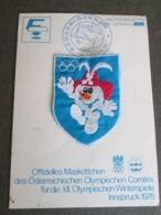 OFFIZIELLES MASKOTTCHEN DES OSTERREICHICHEN OLYMPISCHEN COMITES, INNSBRUCK 1976, - Giochi Olimpici