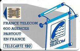 CARTE-PUBLIC-600 AGENCES-Te35-120U-SC5-ab.544- Couronne évidée-5Impact-N°15829-R° Barre Infer +Courte-Utilisé-TBE - - France