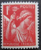 FRANCE Type Iris N°433 Neuf * - 1939-44 Iris