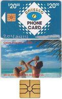 19/ Bahamas; P7. Beaching, Hand Silver CN 7 Digits, Chip GEM 1B.1, With Transparent Logo, 7.000 Ex. - Bahamas