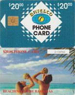 21/ Bahamas; P10. Beaching, Black CN 6 Digits, Chip GEM 1.2, Ca. 1.000 Ex., Range 100000 - 101000 - Bahamas