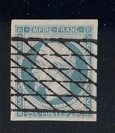 FRANCE YT 15 OBL TTB ...grille Sans Fin , Signé Buhler. - 1853-1860 Napoleon III
