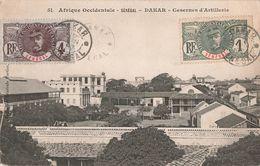 Sénégal Dakar Casernes D' Artillerie Caserne + Timbre 2 Timbres Cachet 1907 - Sénégal
