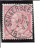 N° 46 . OBL.CENTRALE Schaarbeek (Brux.) LOT A101 - 1884-1891 Léopold II