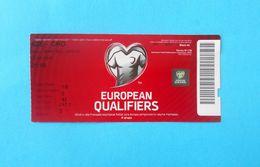 AZERBAIJAN V CROATIA - 2016 UEFA EURO Qualif. Football Match Ticket * Soccer Fussball Calcio Foot Futbol Futebol - Tickets D'entrée