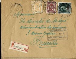 Doc. De FRAMERIES - C C - Du 19/01/49 En Rec. - Marcophilie