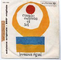 """Los Hermanos Rigual (Anni 60)  """"Cuando Calienta El Sol - La Del Vistido Rojo"""" - Dischi In Vinile"""