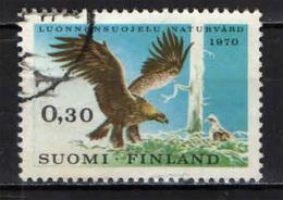 FINLANDIA - 1970 - UCCELLO - ANNO EUROPEO PER LA PROTEZIONE DELLA NATURA - USATO - Gebraucht