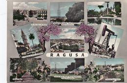 RAGUSA-9 VEDUTINE-CARTOLINA VERA FOTOGRAFIA- VIAGGIATA-IL 3-9-1958 - Ragusa