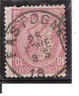 N° 46 . OBL.CENTRALE BASTOGNE LOT B105 - 1884-1891 Léopold II