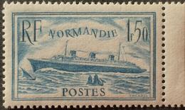 R1319/20 - 1935/1936 - PAQUEBOT NORMANDIE - N°300b Turquoise NEUF** BdF - Cote (2020) : 460,00 € - Unused Stamps