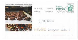 Lettre Verte Choclat Chocolade Choclate Praline Regional Massif Bauges 30.06.2014 - Enteros Postales