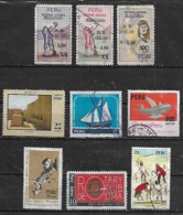 1970-2 Peru Reforma Agraria-barco-avion-rotary-biblioteca-tierra Para El Que La Trabaja 9v. - Pérou