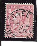 N° 46 . OBL.CENTRALE Grivegnée Défaut Du P Dans Poste (plaatfout) LOT D108 - 1884-1891 Léopold II