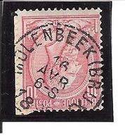 N° 46 . OBL.CENTRALE Molenbeek (BRUX) LOT E104 - 1884-1891 Léopold II