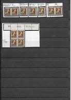 527  XXX -  X1  -  8   VARIETES  AVEC  L'EXPLICATION  COMPLETE     - MET  DE COMPLETE  UITLEG - Errors And Oddities