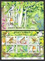 Jersey 2009 MiNr. Block 80 - 81 Song Birds Birds III  2 S/sh MNH**  13,00 € - Jersey