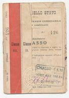 Treinbiljet 1912 Chiasso - Biglietti A Itinerario Combinabile - Ferrovie Dello Stato 1912 - Chemins De Fer