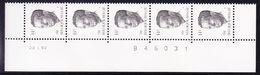 BELGIQUE COB 2352 ** MNH BANDE DE 5 DATEE 22 I 92, GOMME BLANCHE. (4TJ40) - 1981-1990 Velghe