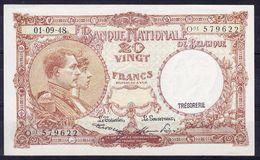 BELGIQUE MORIN N° 28, 01.09.1948 UNC,  (BB6) - [ 6] Schatzamt
