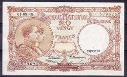 BELGIQUE MORIN N° 28, 01.09.1948 UNC Mais Infimes Froissures Coin Supérieur,  (BB6A) - [ 6] Schatzamt