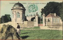 94- VALENTON LIMEIL- La Tourelle Et Entrée Du Chateau -Gardien -Bottes De Foin- - Scans Recto Verso - Valenton