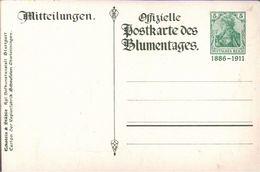 ! 1911, Blumentag,  Privatganzsache Deutsches Reich,  Frech PP27 C125 - Stamped Stationery