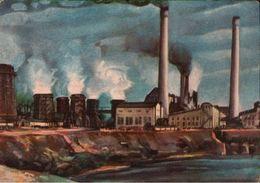 ! Ansichtskarte 200 Jahre Lauchhammer, 1925, Linke Hofmann AG, Überlandzentrale Und Brikettfabrik, Industrie - Lauchhammer