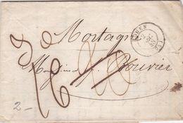 LAC De Rouen (76) Pour Mortagne-au-Perche (61) - 2 Décembre 1848 - CAD Rond Type 15 - Taxe Manuelle 21 - Postmark Collection (Covers)