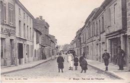 AVIT18-  BLAYE  EN GIRONDE  LA RUE DE L'HOPITAL CPA  CIRCULEE - Blaye