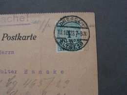 Dresden Blasewitz , Karte Infla 1 Million EF  1923 - Briefe U. Dokumente