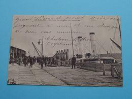 Calais - Arrivée Du Bateau De DOUVRES ( 16? ) Anno 19?? ( See / Voir Photo ) ! - Paquebots