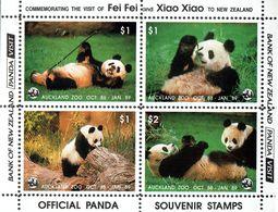 New Zealand 1988 Giant Panda Auckland Visit - Blokken & Velletjes