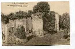 CPA 02 : PRESLES Et THIERNY  Ruines Du Château  A  VOIR   !!!!!! - Francia