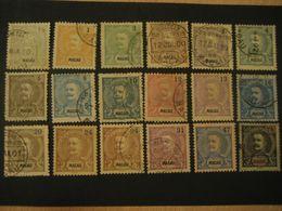 MACAU 1898/900 Yvert 78/95 (18 Stamp Set (15 Cancel) Cat. Year 2008: 214 Eur) Macao Portugal China Area - Macao