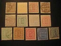 MACAU 1893/4 Yvert 46/58 (13 Stamp Set (7 Cancel) Cat. Year 2008: 369 Eur) Macao Portugal China Area - Macao