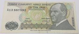 Billete Turquía. 10 Liras. 1970 - Turquie