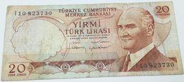 Billete Turquía. 20 Liras. 1970 - Turquie