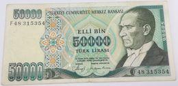 Billete Turquía. 50000 Liras. 1989 - Turquie