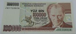 Billete Turquía. 100000 Liras. 1991. Sin Circular. SC - Turquie