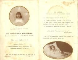 ILE DE FRANCE - 93 - SEINE SAINT DENIS - GAGNY Carte Mortuaire Avec Véritable Photo - Lise Conchon - Cadette Noëlistes - Gagny