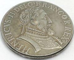 RÉPLICA Moneda 1 Testón. Rey Enrique II. París, Francia. 1544 - 476-1789 Monnaies Seigneuriales
