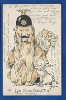 Carte Humoristique Guerre 1914/18         Kaiser   Les Deux Domptés   écrite En 1915 - Humor