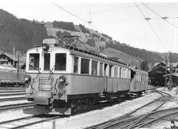 BVA - Zweisimmen BFZe 4/4 28 - Montreux Oberland Bernois MOB M.O.B Ligne De Chemin De Fer Train - BE Bern