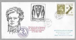 Cn - POLYNESIE FRANCAISE - Bicentenaire De La Naissance De DUMONT D'URVILLE - PORTRAIT - SERVICE A LA MER-23.5.1990. - Terres Australes Et Antarctiques Françaises (TAAF)