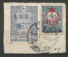CILICIE N° 45 Et 69 Sur Fragment Cachet ADANA - Cilicie (1919-1921)