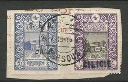 CILICIE N° 36 Et 69 Sur Fragment Cachet ADANA - Cilicie (1919-1921)