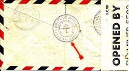 Cachet Avec Croix De LORRAINE Du Comité DE GAULLE Au SAN SALVADOR Pour Londres- 1944 - - Marcophilie (Lettres)