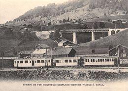 BVA - Viaduc De Gstaad  - Montreux Oberland Bernois MOB M.O.B Ligne De Chemin De Fer Train - BE Berne