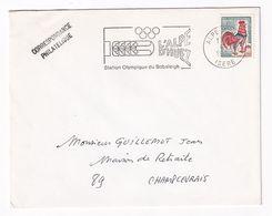 France 1968 Cover; Winter Olympic Games Grenoble 1968; Bob Sleighg; L'Alpe D'Huez Oly,mpic Vanue Slogan - Winter 1968: Grenoble